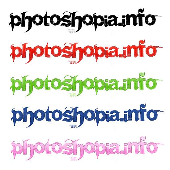 Рисованный шрифт в фотошопе
