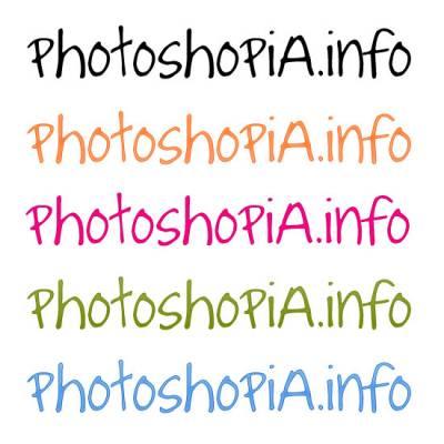 Оригинальный шрифт для фотошопа
