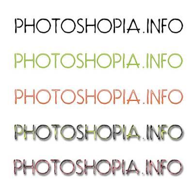 76 шрифтов с цветами шрифты объекты с