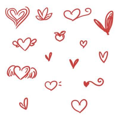 Милые каракули сердец совместимые с